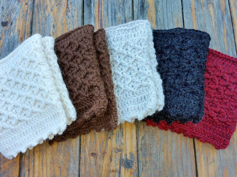 Alpaca Boot Cuffs Socks IAT Brown One Size Fits Most