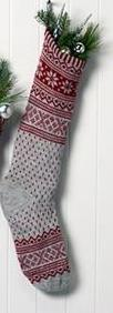Alpaca Christmas Stocking Holiday RM Light Grey