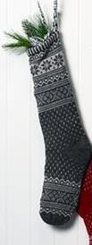 Alpaca Christmas Stocking Holiday RM Steel Grey