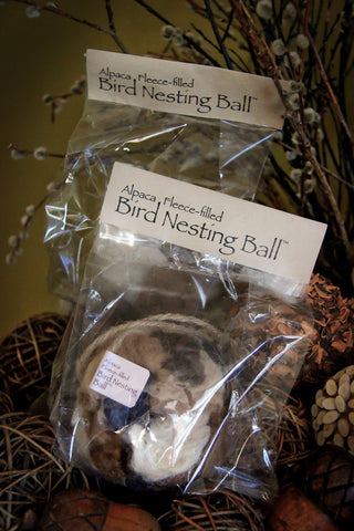 Alpaca Fleece-filled Bird Nesting Ball® Fun ATA