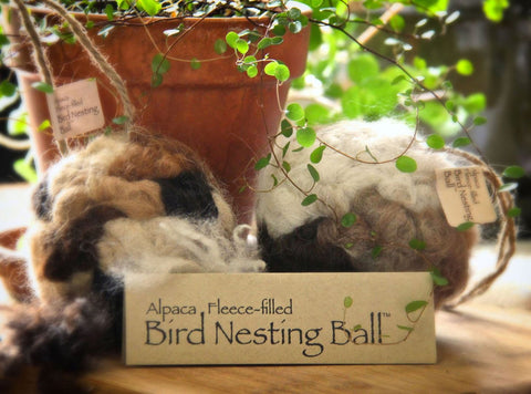 Alpaca Fleece-filled Bird Nesting Ball® - Purely Alpaca