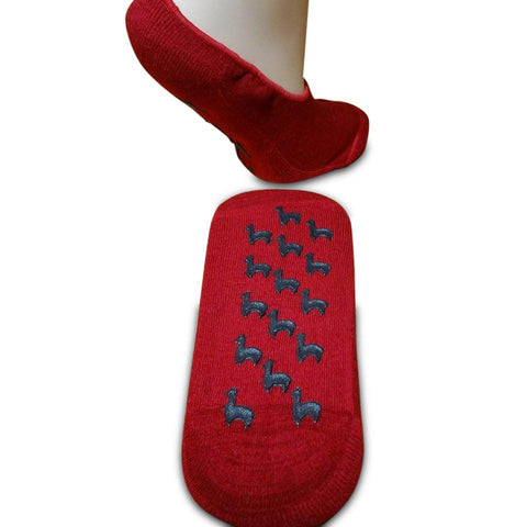 Alpaca Gripper Slipper Socks Socks PL SmallMedium Scarlet