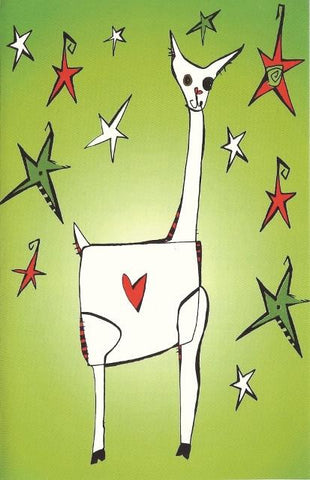 Alpaca Love Greeting Card in Green Holiday CWR