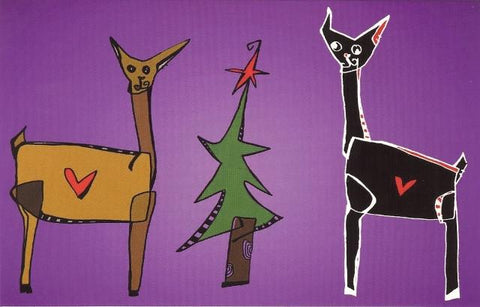 Alpaca Love Greeting Card in Purple Holiday CWR