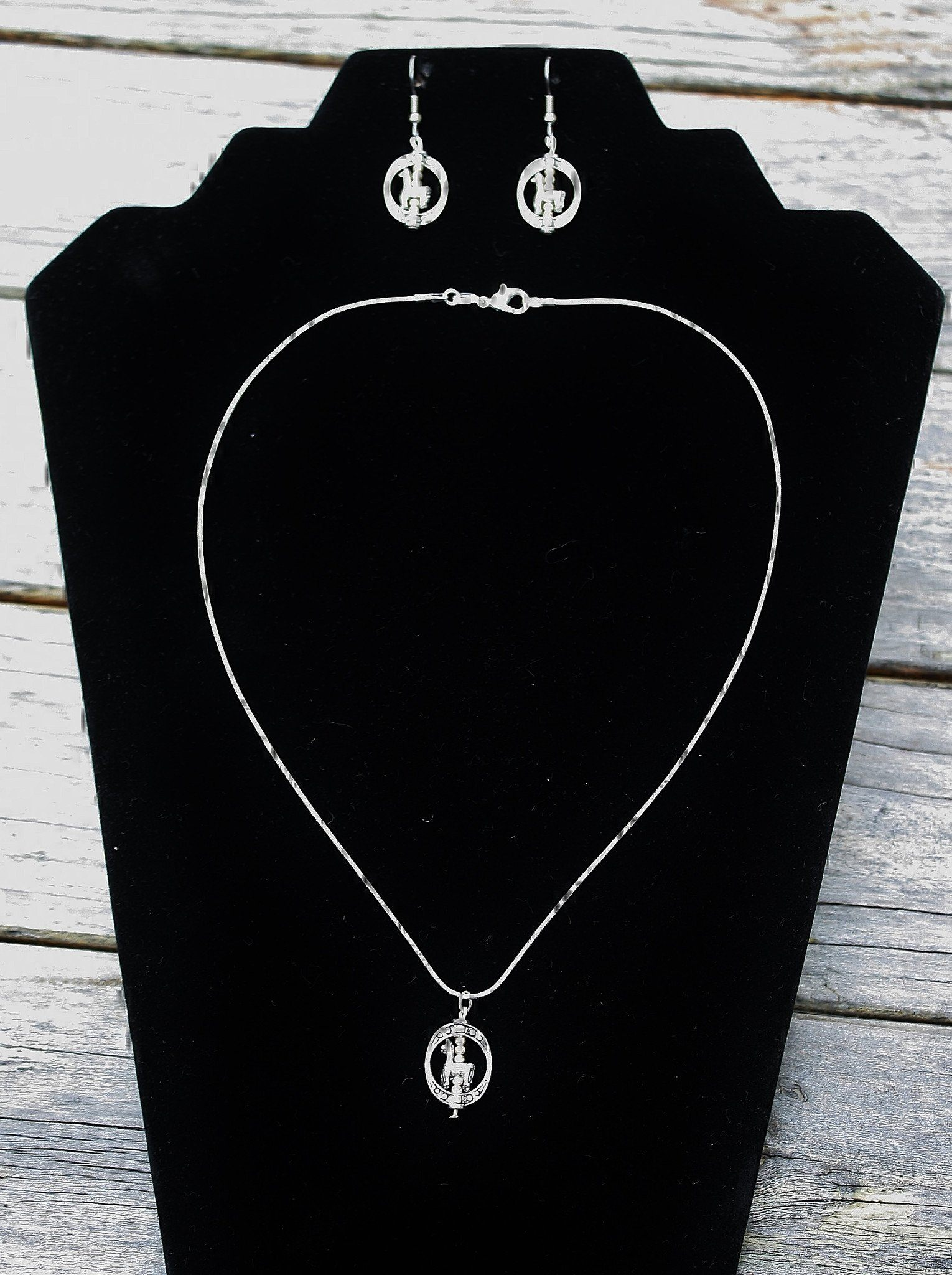 Alpaca Necklace and Earrings Set