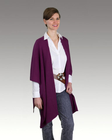 Alpaca Straight Edge Ruana Wrap - Purely Alpaca