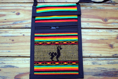 Alpaca Travel Passport Holder Purses IAT Rasta