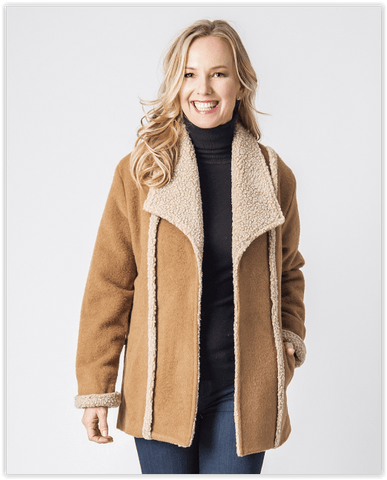 Alpine Ladies Alpaca Coat - Purely Alpaca
