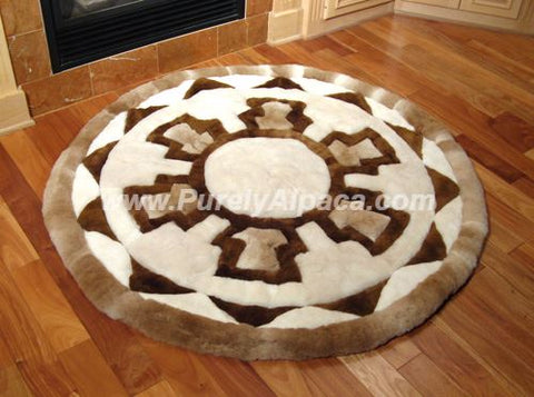 Baby Alpaca Fur Rugs - Shield DropShip INCT Small