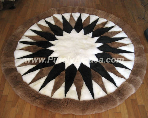 Baby Alpaca Fur Rugs - Star DropShip INCT Small
