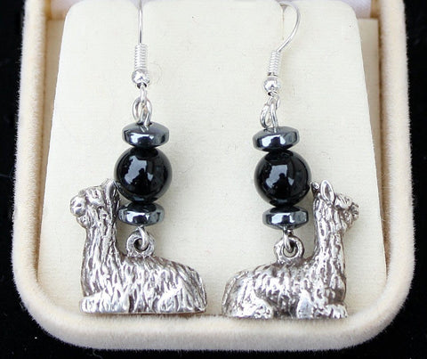 Black Onyx Silver Alpaca Earrings - Purely Alpaca