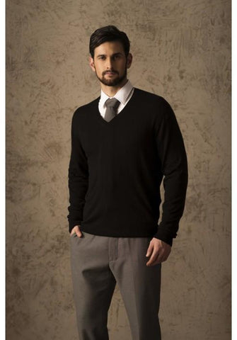 BRIAN 100% VICUNA SWEATER DropShip AC Black Small