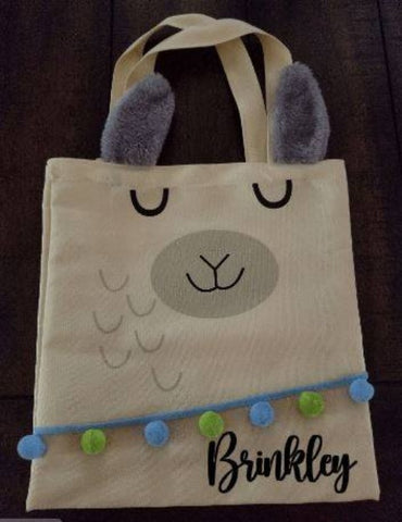 Easter Alpaca Tote Bag