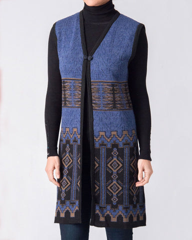 CATHEDRAL LADIES LONG ALPACA VEST