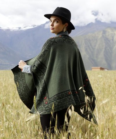 CELTIC REVERSIBLE ALPACA RUANA
