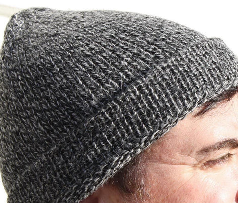 Classic Knit Fishermans Alpaca Hat - Purely Alpaca