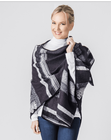 Colca Canyon Alpaca Ruana Capes and Wraps PL