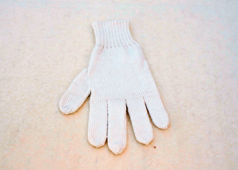 Colorful Alpaca Blend Full Fingered Knit Alpaca Gloves Glove TO Off White
