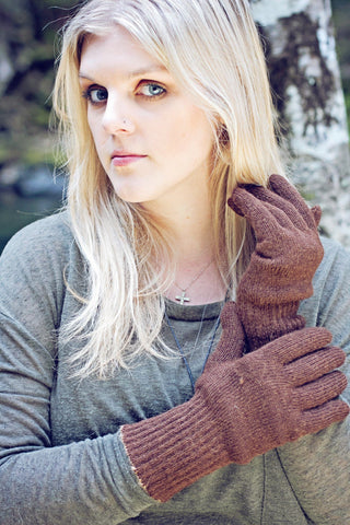 Double-Thick Knit Alpaca Gloves Glove PL