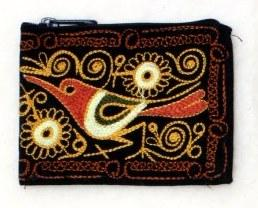 Embroidered Alpaca Pocket / Coin Purse Purses IAT