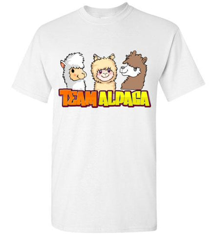t-shirt: Team Alpaca Gildan Short-Sleve Purely Alpaca White S