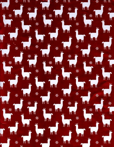 Gift Wrap your Alpaca Gifts Gift Wrap WM Red Silver Snowflake Llama