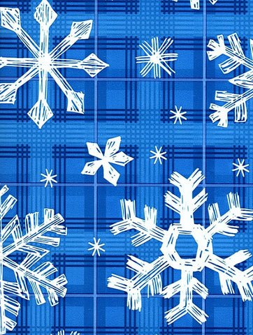 Gift Wrap your Alpaca Gifts Gift Wrap WM Snowflakes on Blue