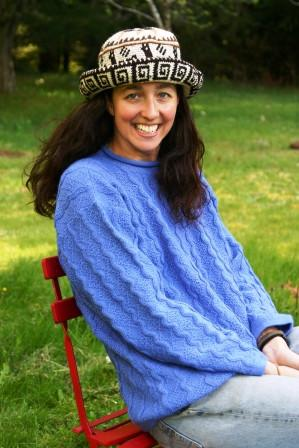 Hand Crochet Roll Up Rustic Alpaca Hat - Purely Alpaca