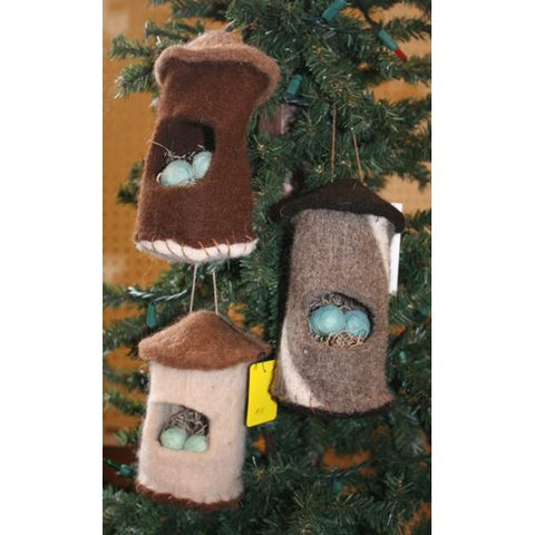 Heartfelt Alpaca Felt Bird House Ornament Home Goods HRTFLT