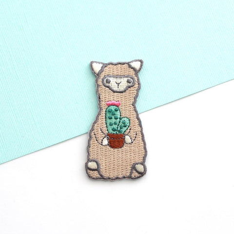 Wild Whimsy Alpaca Cactus Iron-on Patch - Purely Alpaca