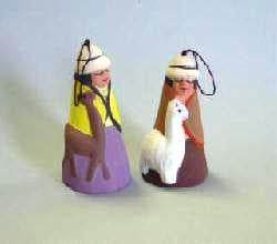Ceramic Alpaca Holiday Bells - Purely Alpaca