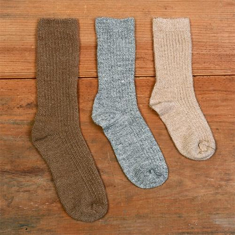 Kid's Copper Crew Alpaca Socks Socks RM Hickory Small