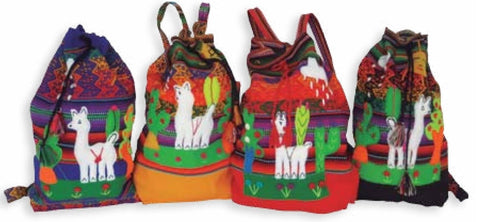 Kids Inca Alpaca Backpack Purses IAT