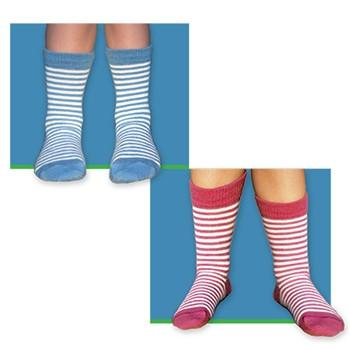Kid's Striped Alpaca Crew Socks Socks RM Youth Small Surf