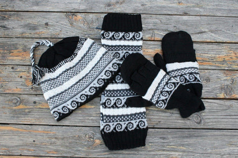 Lace Alpaca Leg Warmers Socks PL