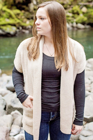 Ladies 100% Baby Alpaca Vest - Purely Alpaca