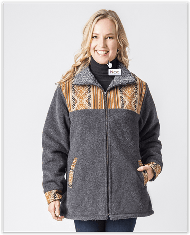 Ladies Alpaca Barn Jacket - Purely Alpaca