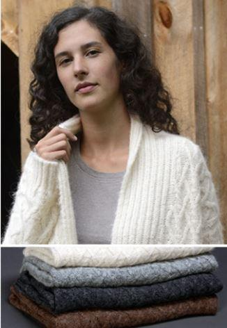 Lattice Cable Alpaca Cardigan - Purely Alpaca