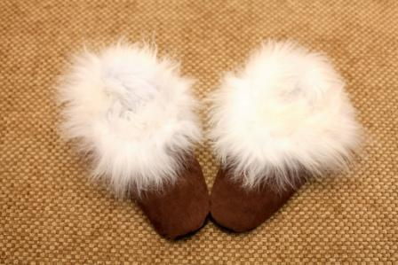 Leather Alpaca Slippers Socks PL