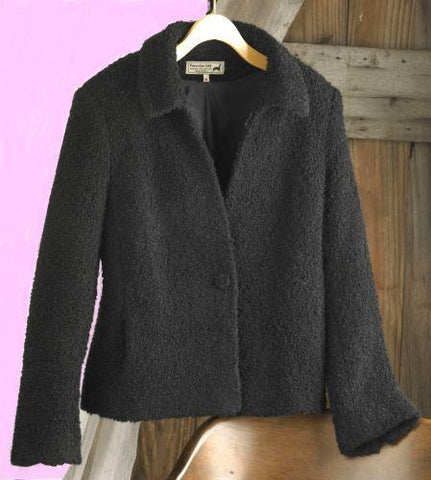 Lined Boucle Alpaca Jacket - Purely Alpaca