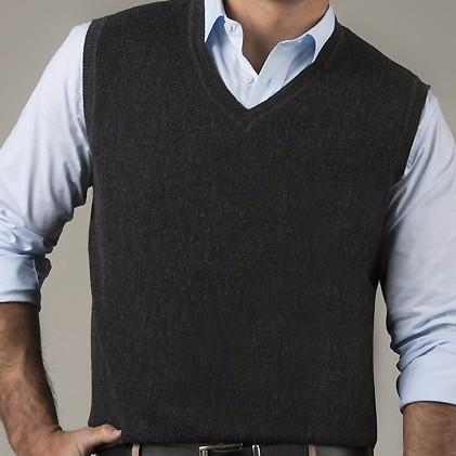 Links Men's V-Neck Alpaca Vest - Purely Alpaca