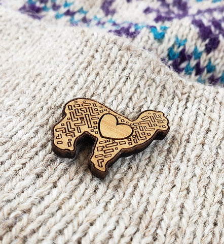 LOVE Alpaca Hat and Lapel Pin - Purely Alpaca