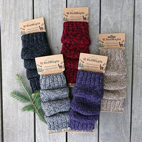 Marled Alpaca Leg Warmers Socks RM Dark Charcoal Marl One Size Fits Most