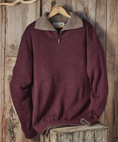 MEN'S ZIPPER ALPACA SWEATER