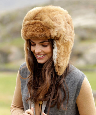 100% Baby Alpaca Fur Hat With Earflaps Chullo