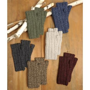 Ribbed Alpaca Wrist Warmer Gloves - Purely Alpaca