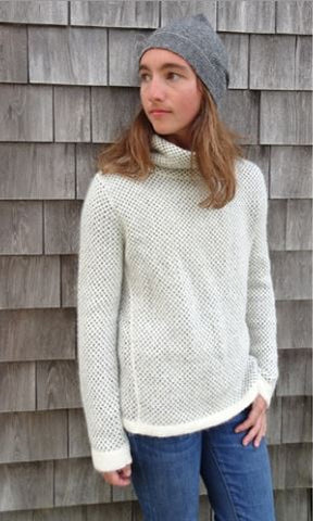 Selbu Mock Alpaca Sweater - Purely Alpaca