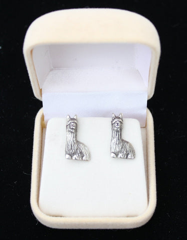 Silver Alpaca Earrings Jewelry GTNA Silver