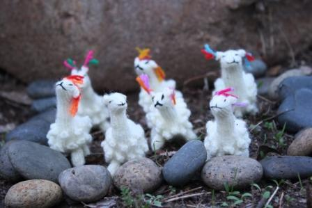 Small Alpaca Herd Toy Toy LC