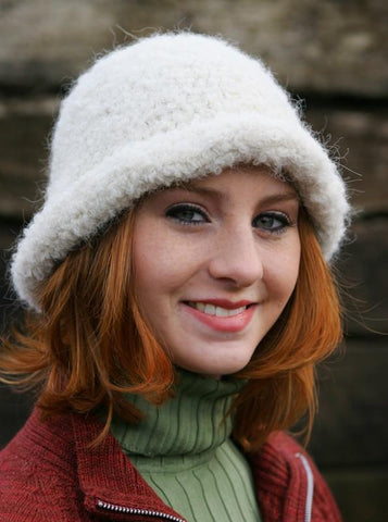 Snow Boucle Alpaca Hat - Purely Alpaca